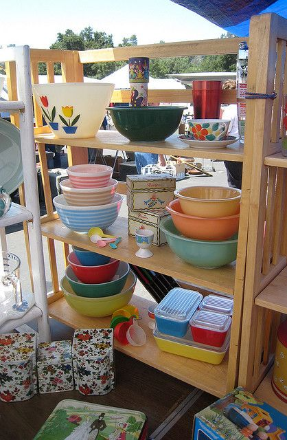 Vintage Kitchen Items. I have those Pyrex dishes on the bottom and still use them all the time. Love them.