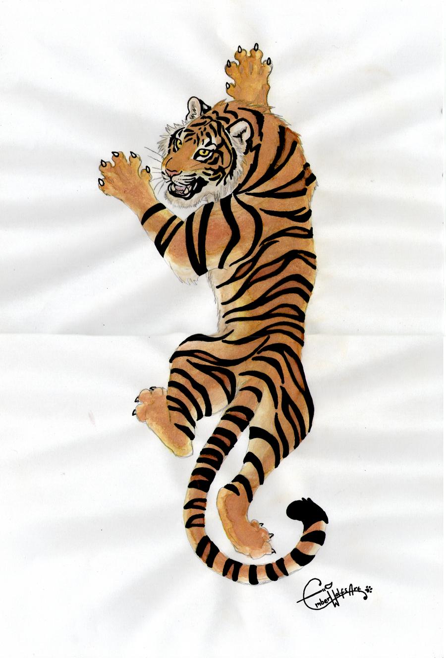 Climbing tiger | Tiger tattoo design, Tiger tattoo, Foot ...