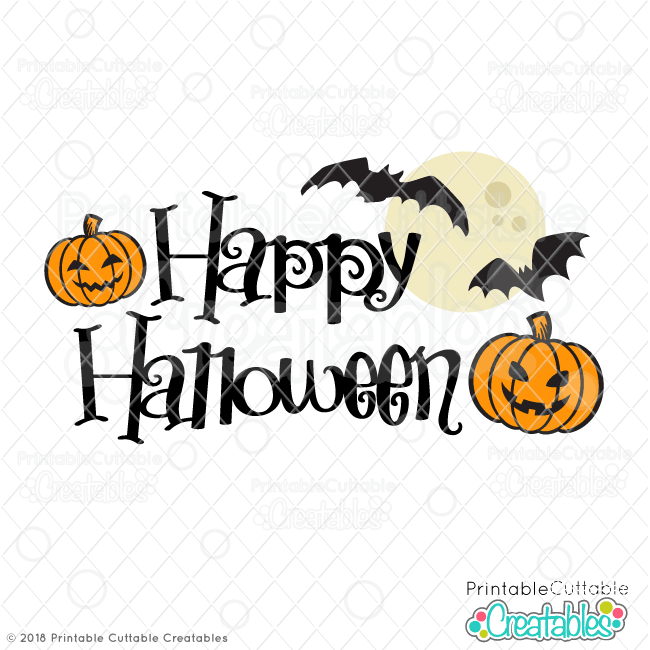 Happy Halloween Free Svg File For Silhouette For Cricut Svg Free Files Free Halloween Free Halloween Fonts