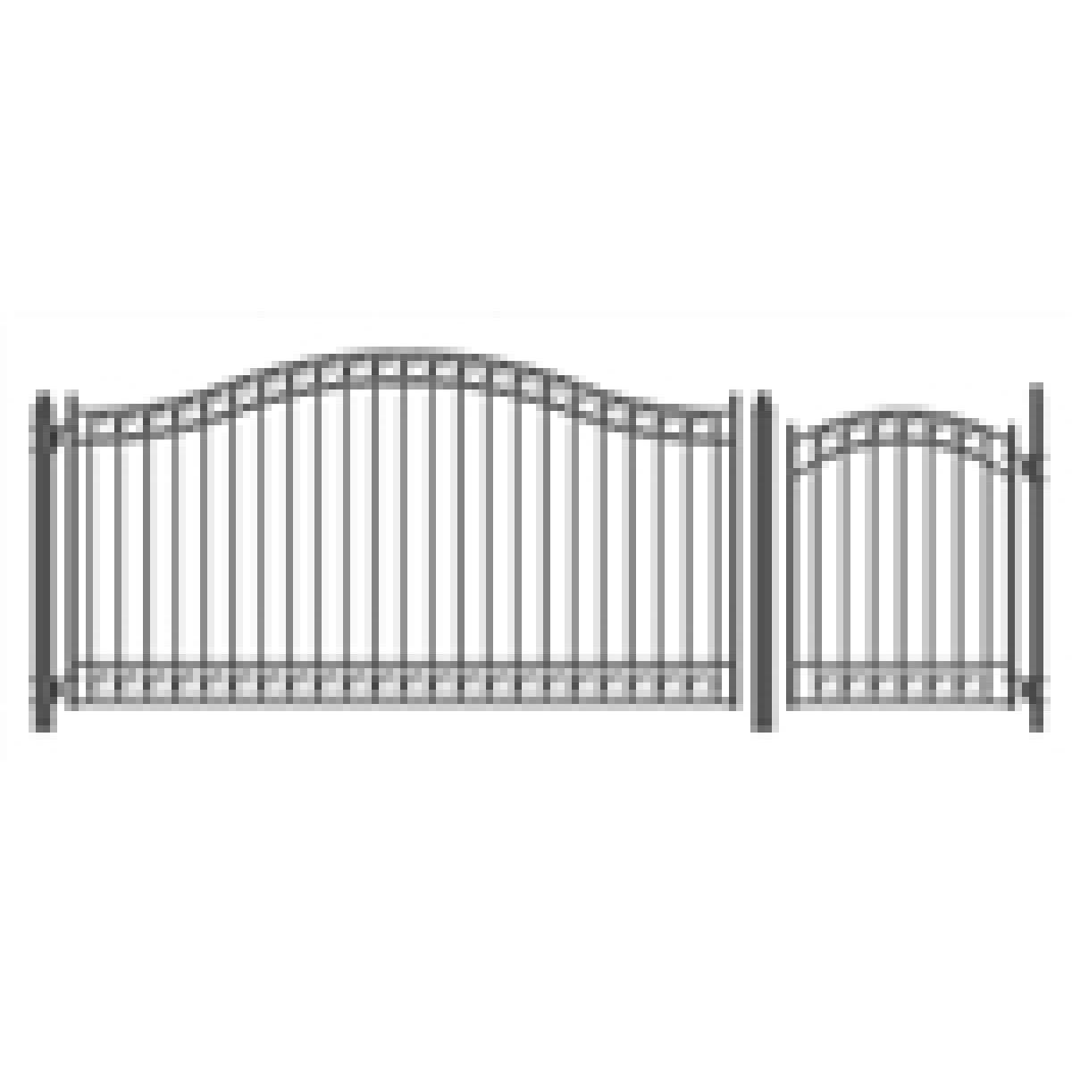 Dublin Style Swing Dual Driveway Gates 12 X 6 1 4 Driveway Gate Driveway Entrance Gates Design