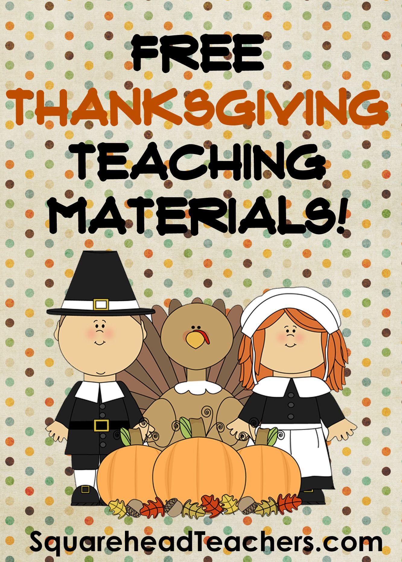 Pin On Free Thanksgiving Teacher Stuff Squarehead Teachers