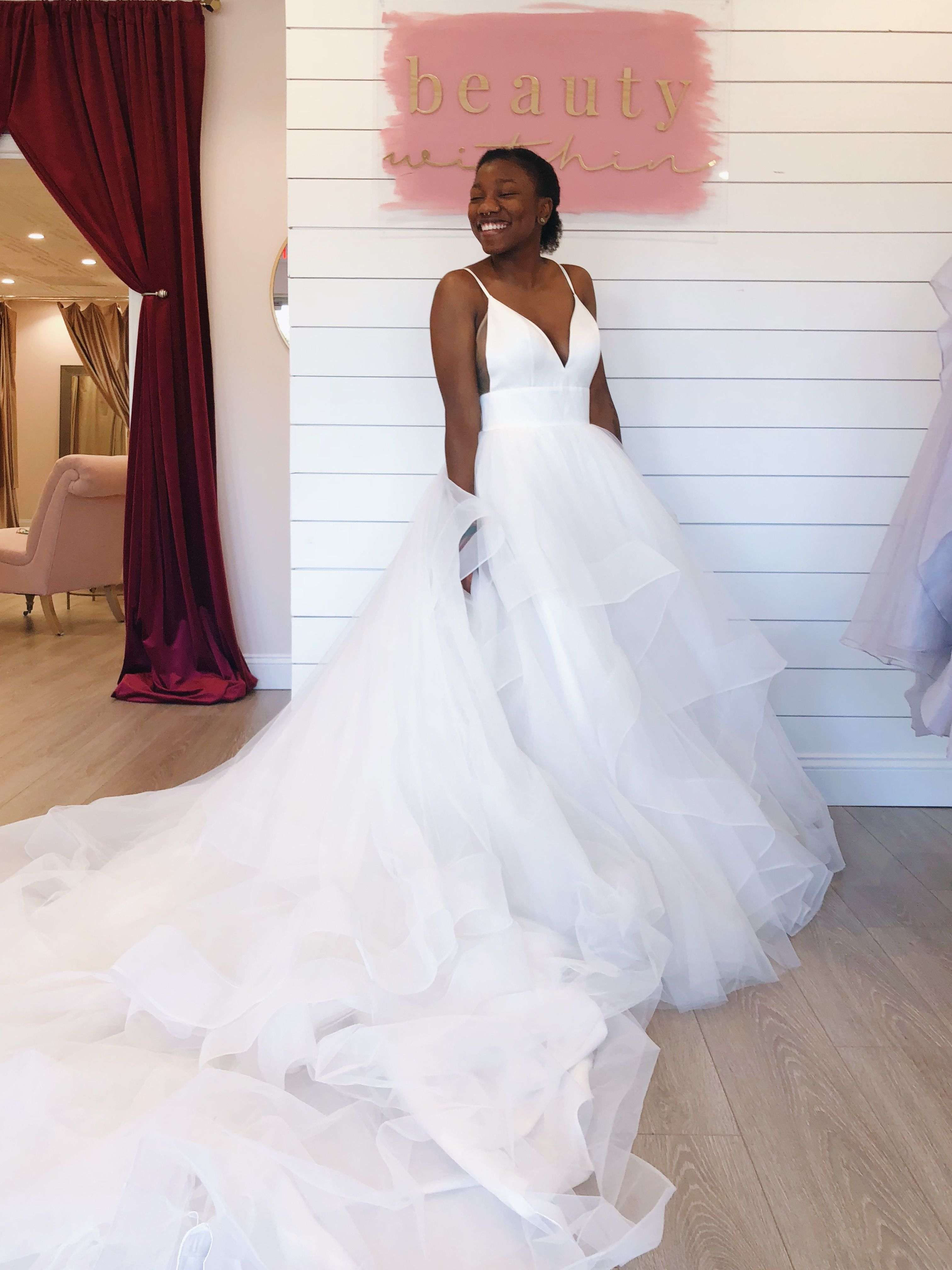 Long, ruffle train on wedding dress   Bridal looks, Bridal ...