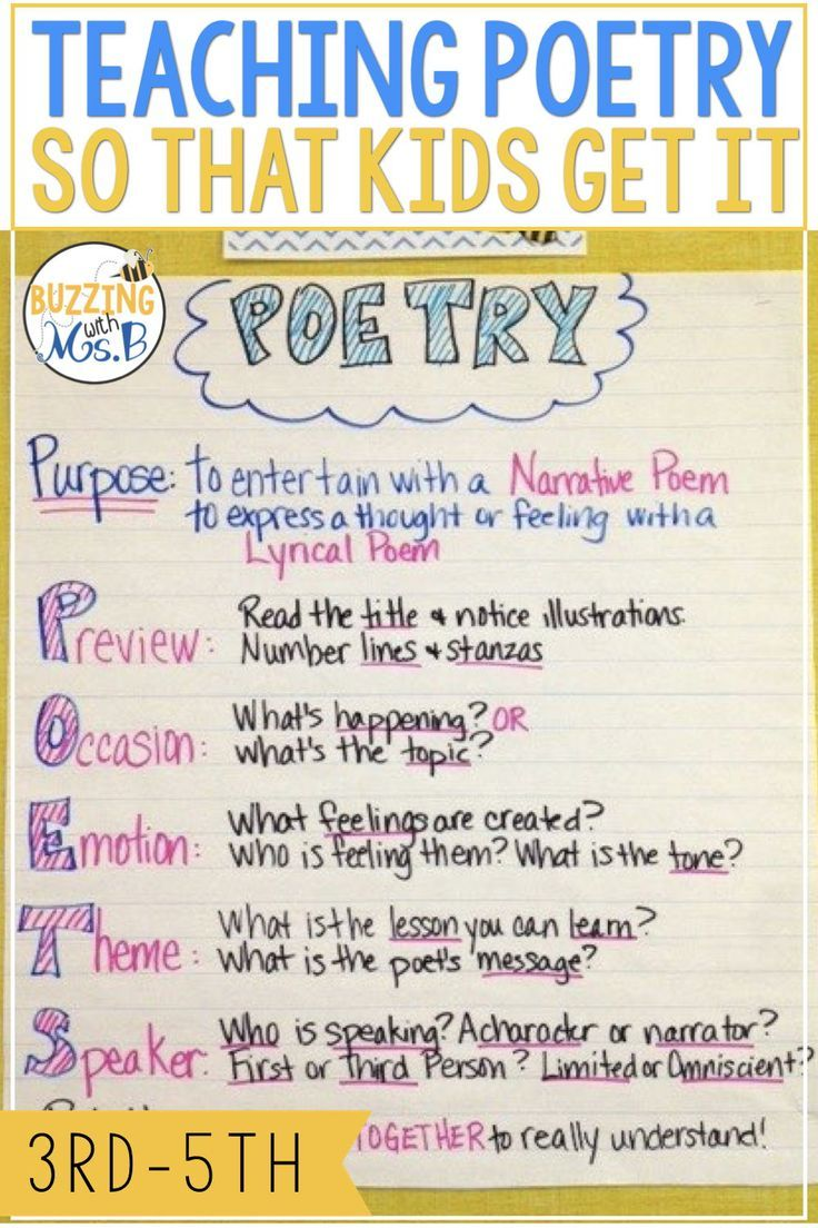A poetry strategy that works for upper elementary