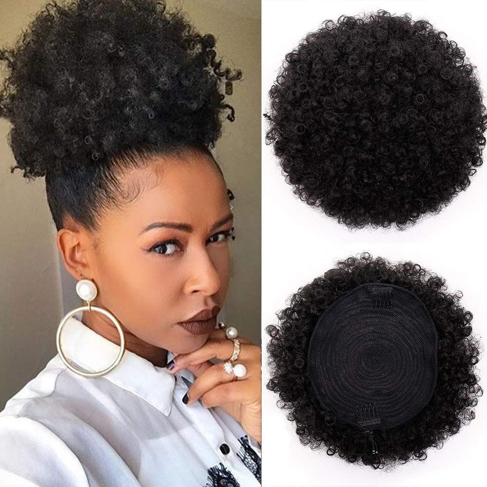 Synthetic Afro Puffs Drawstring Ponytail Bun Hairpieces Updo Hair Puff In 2020 Hair Accessories Updo Drawstring Ponytail Scrunchie Hairstyles