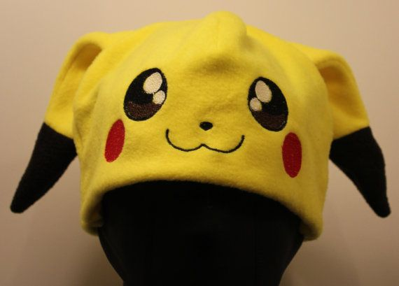 Pikachu Pokemon Fleece Hat | pokemon | Pinterest | Diy ideen, Mütze ...