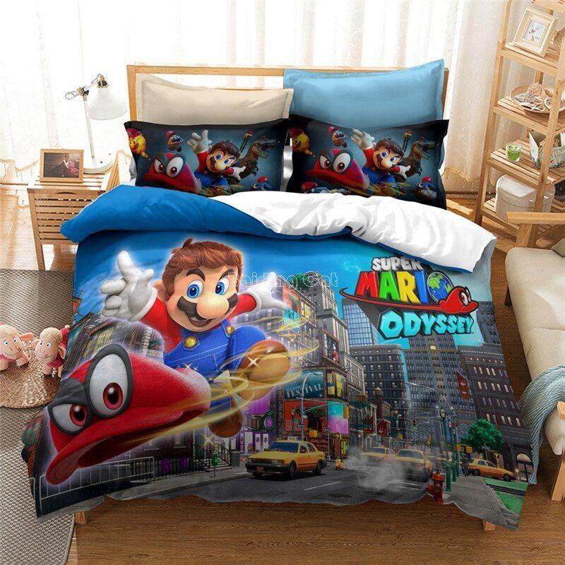 2020 New 3d Super Mario Bros Duvet, Super Mario Bros Full Size Bedding