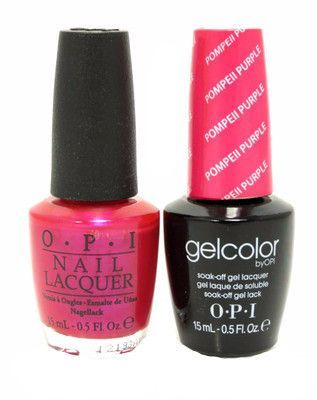Opi Gelcolor Matching Lacquer Pompeii Purple C09 Nail Polish Opi Gel Polish Red Gel Nails