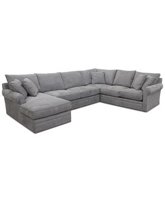 doss ii 4 pc fabric chaise sectional sofa front room sectional rh pinterest com
