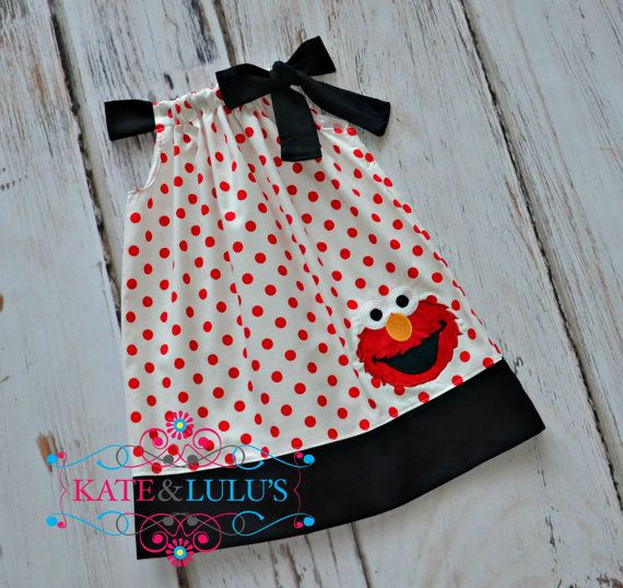 Hey, I found this really awesome Etsy listing at https://www.etsy.com/listing/153305864/elmo-birthday-dress-elmo-dress-girls