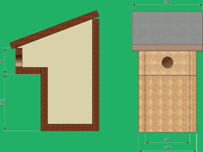 le nichoir balcon convient de nombreuses esp ces les dimensions indiqu es ici sont celles d. Black Bedroom Furniture Sets. Home Design Ideas