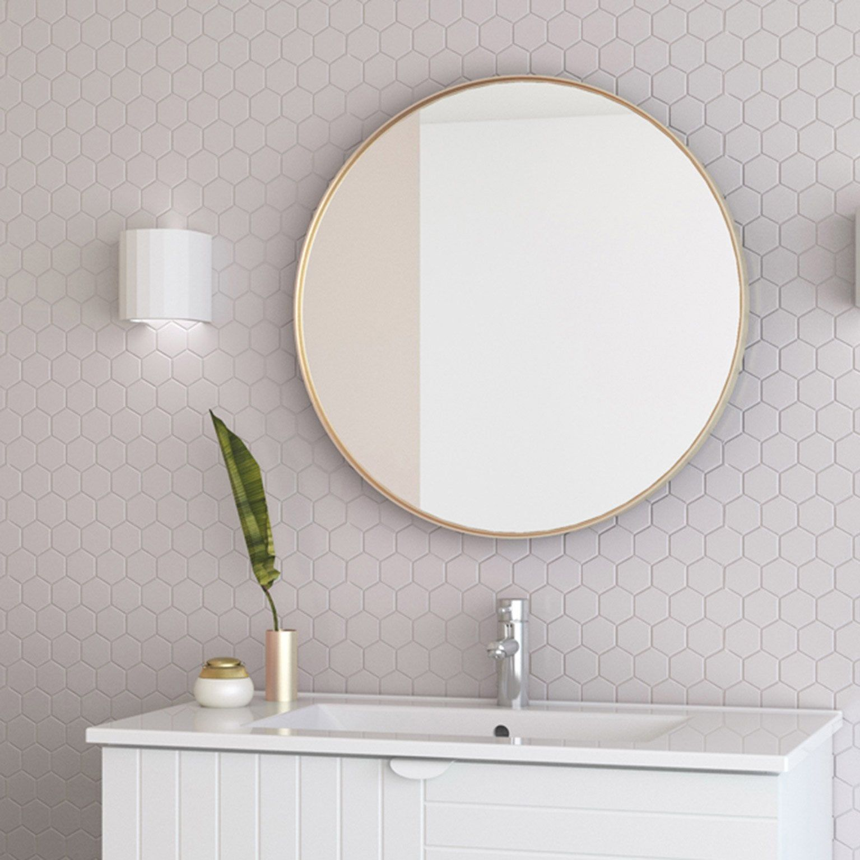 Miroir Encadre Diam 60 Cm Or Randal Kende En 2020 Miroir Miroir Mural Rond Grand Miroir Rond