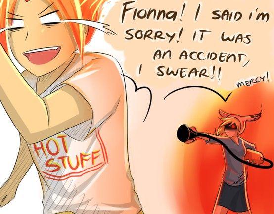 Flame Prince accidentally burns Fiona #adventuretime