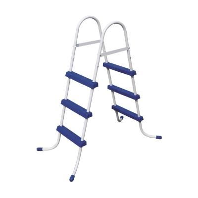 Bestway 36 In Steel Above Ground Pool Ladder And 12 Ft Round Frame Easy Set Cover Above Ground Pool Ladders Pool Ladder In Ground Pools