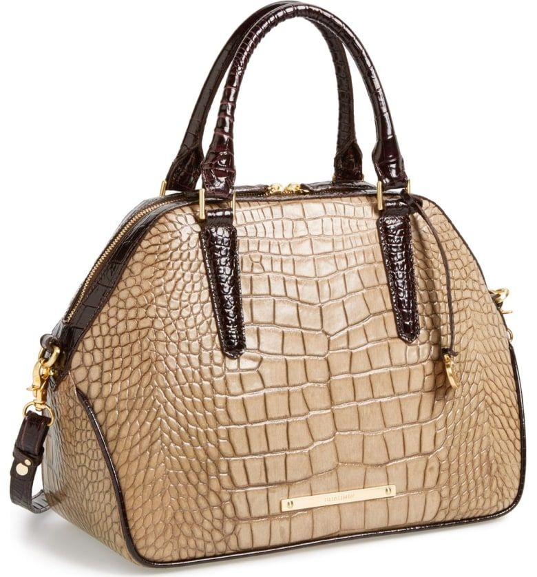 807e4f9815cf Free shipping and returns on Brahmin  Hudson  Leather Satchel at  Nordstrom.com. A two-tone croc-embossed construction lends sophisticated  versatility to a ...
