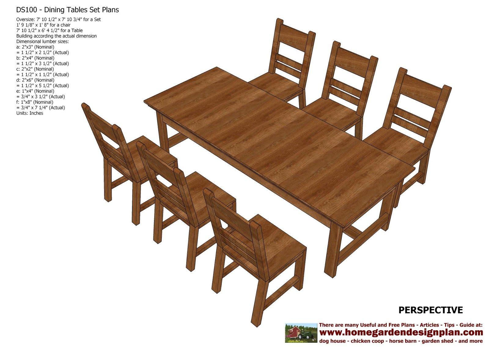 Merveilleux Home Garden Plans: DS100   Dining Table Set Plans   Woodworking Plans    Outdooru2026