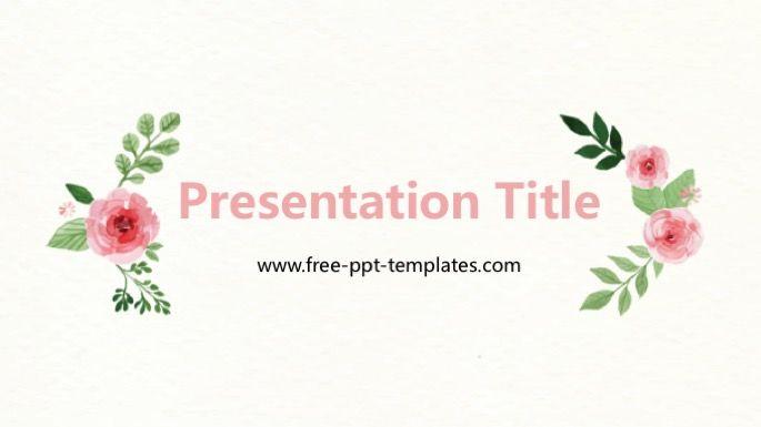 Flower Powerpoint Template Nature Powerpoint Templates Pinterest