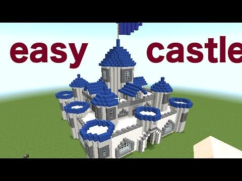Minecraft How To Build A Castle Part 1 2 Minecraft Easy Castle