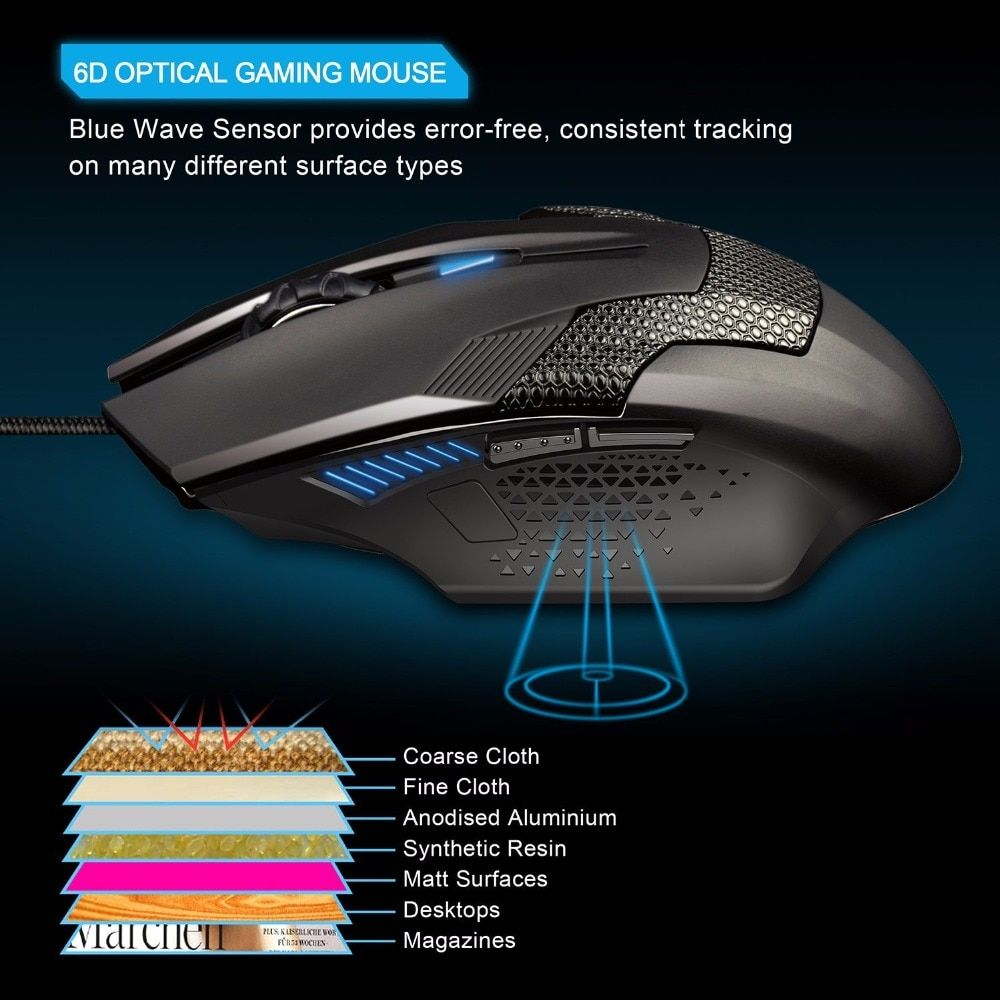4930e434a50 Cheap Price TeckNet Raptor Gaming Mouse 2000 DPI 6 Button Extra Weight Optical  Computer Mouse E-Sports USB PC Mouse For Computer Laptop
