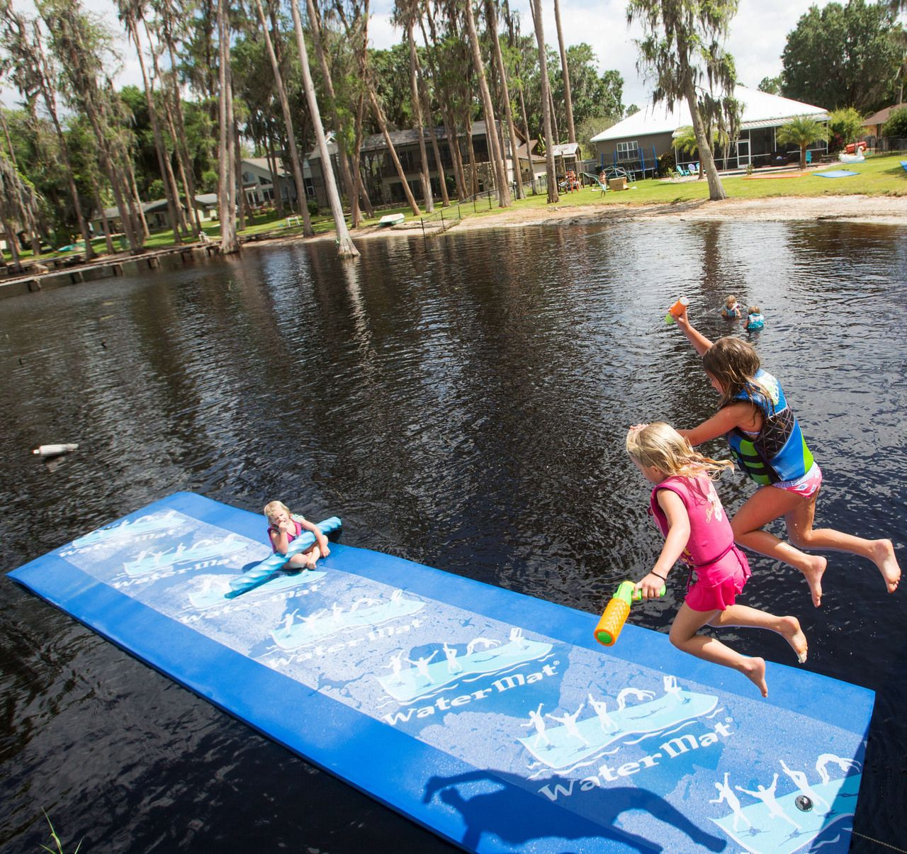 Watermat Walk On Water With This Floating Foam Mat Floating Raft Lake Toys Beach Cabin