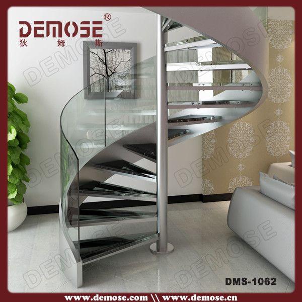 Best Modern Stainless Glass Spiral Stair Spiral Stairs Foshan 640 x 480