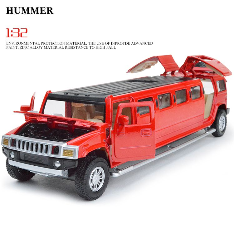 CAIPO Hummer Extended Car Models 132 Alloy Pull Buck Diecast Car - extended service contract