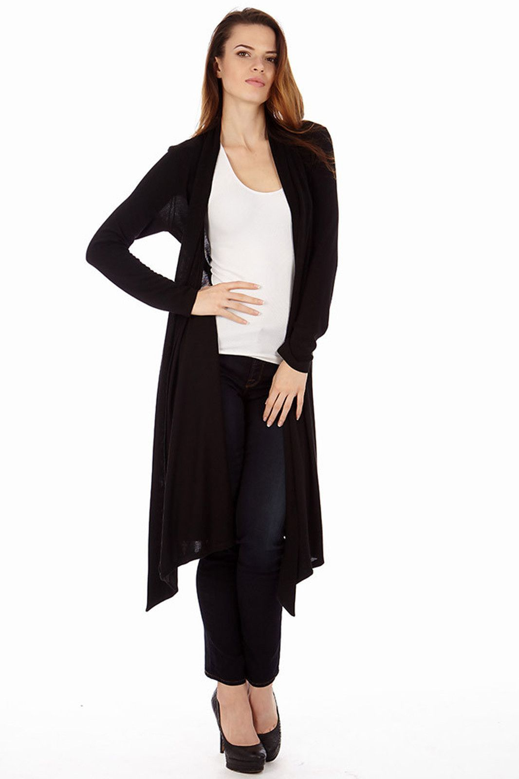 Women's Long Knit Black Cardigan Sweater | Cardigans For Men ...