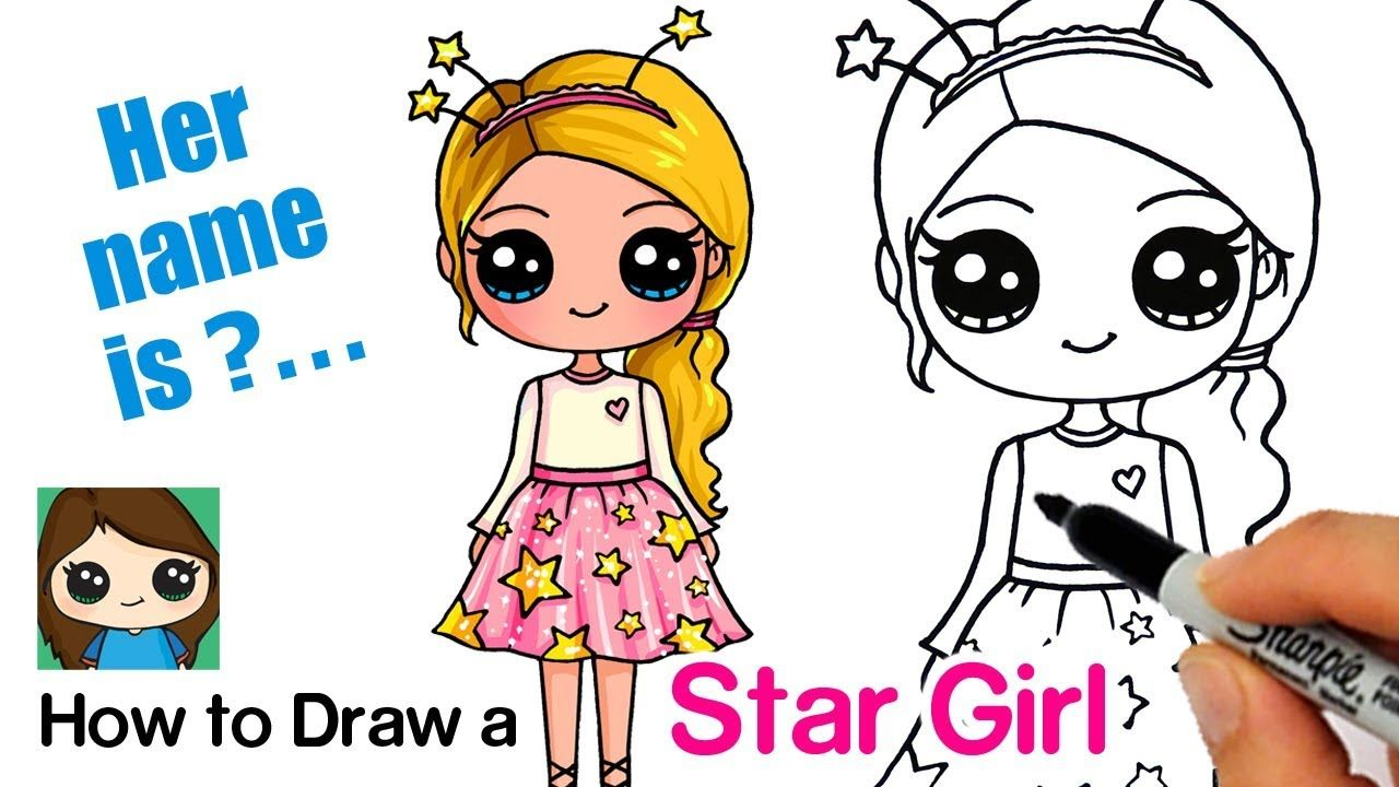 How To Draw A Starshine Sparkle Cute Girl Cute Girl Drawing Cute Easy Drawings Cute Kawaii Girl