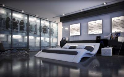 Sofa Dreams Berlin Designerbett MASSA mit LED Beleuchtung. https://www.plus.de/p-1238178001?RefID=SOC_pn