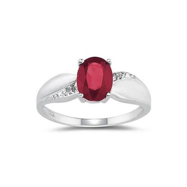 Ruby And Diamond Ring 10k White Gold 11 885 465 Vnd Liked On Polyvore Featuring Jewelry R White Gold Diamond Rings White Gold Ruby Ring Ruby Diamond Rings