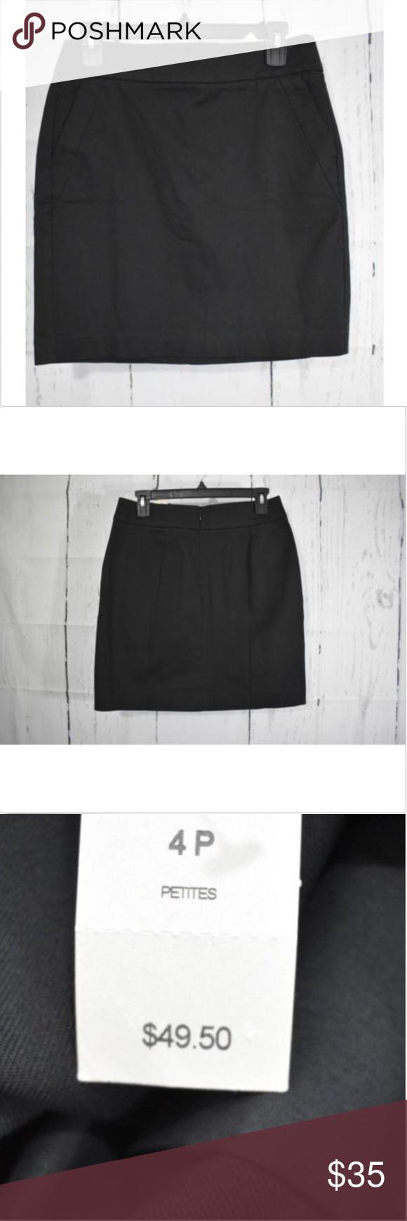 Ann Taylor Classic Black Flat Front Skirt Black flats