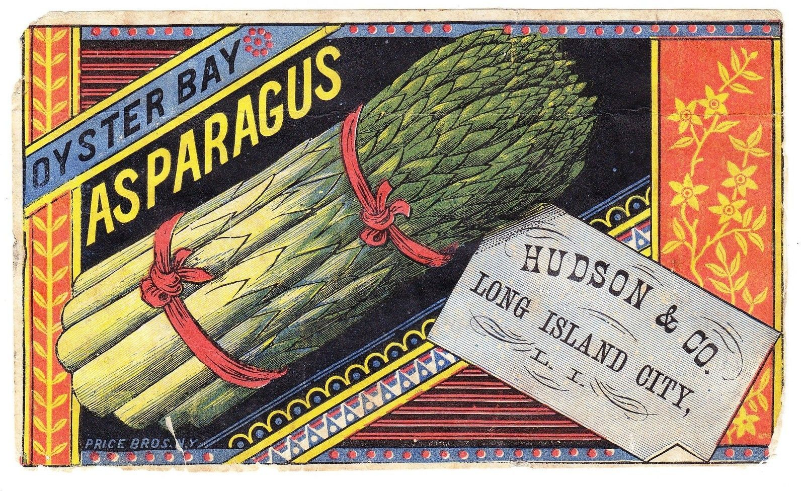 19th century asparagus label.