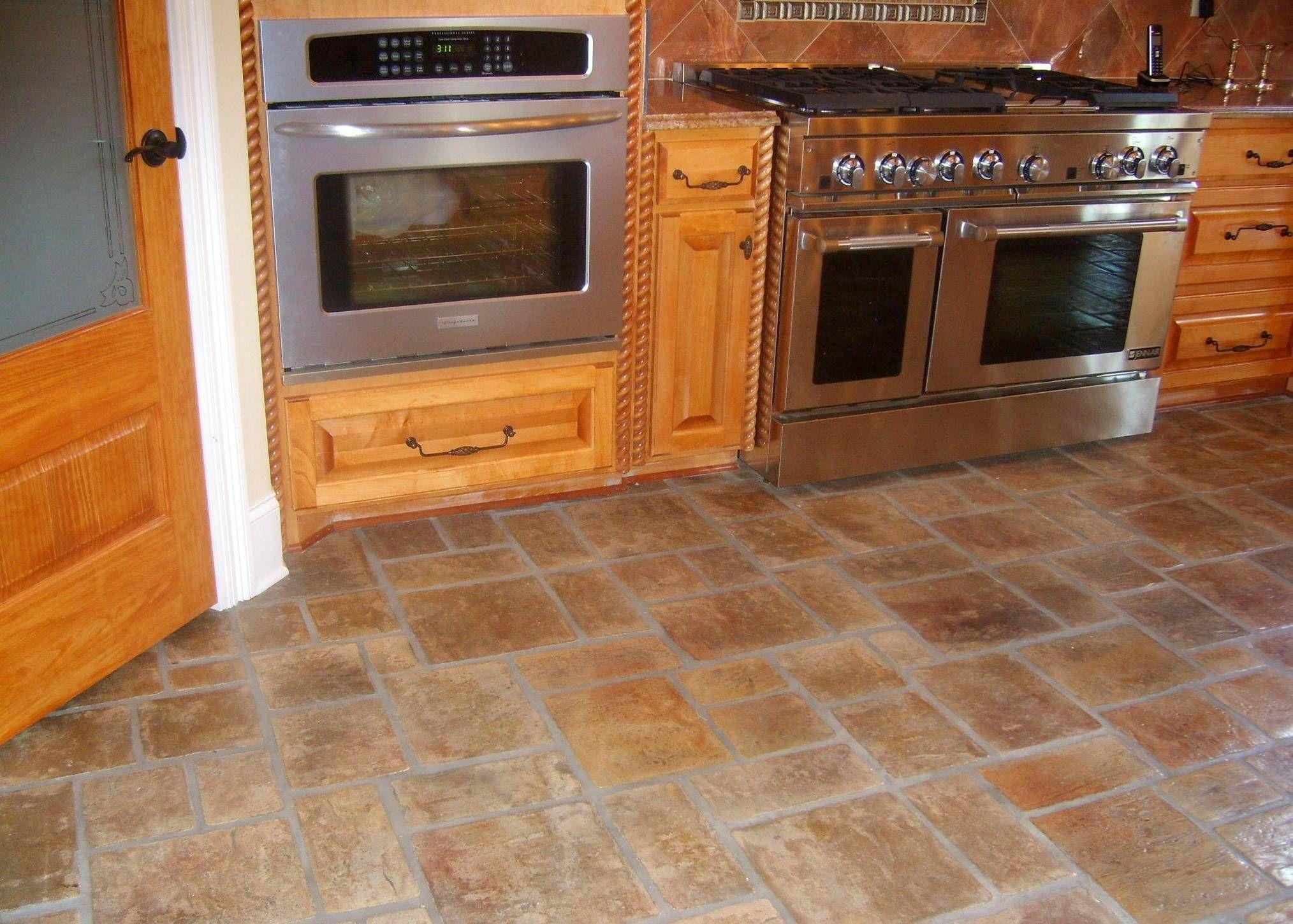 Best Kitchen Floor Stone Pinterest