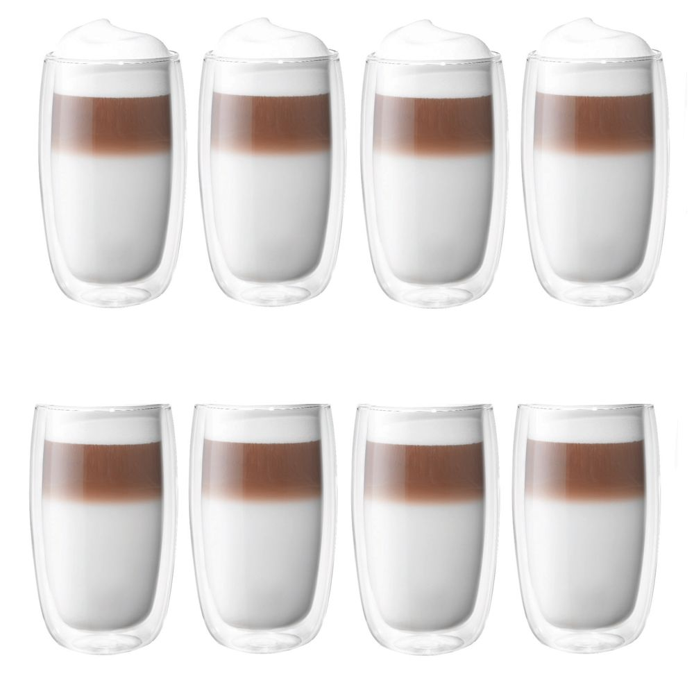 a171b8e849c Zwilling J.A. Henckels Sorrento 8-pc Double-Wall Glass Latte Cup Set ...