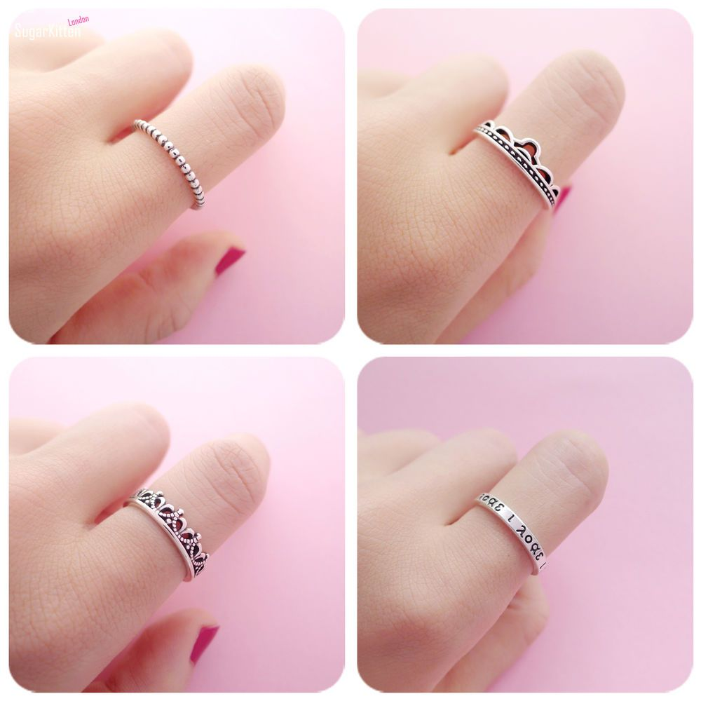 Details about Adjustable Retro 925 Sterling Silver Band Open Band ...