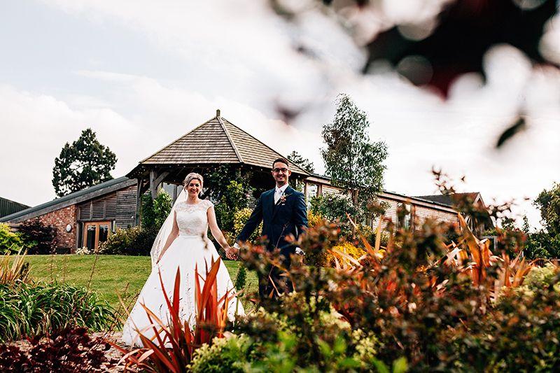 Happy couple at Mythe Barn - © Ed Brown Photography