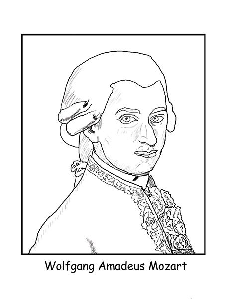 printable mozart coloring pages - photo#5