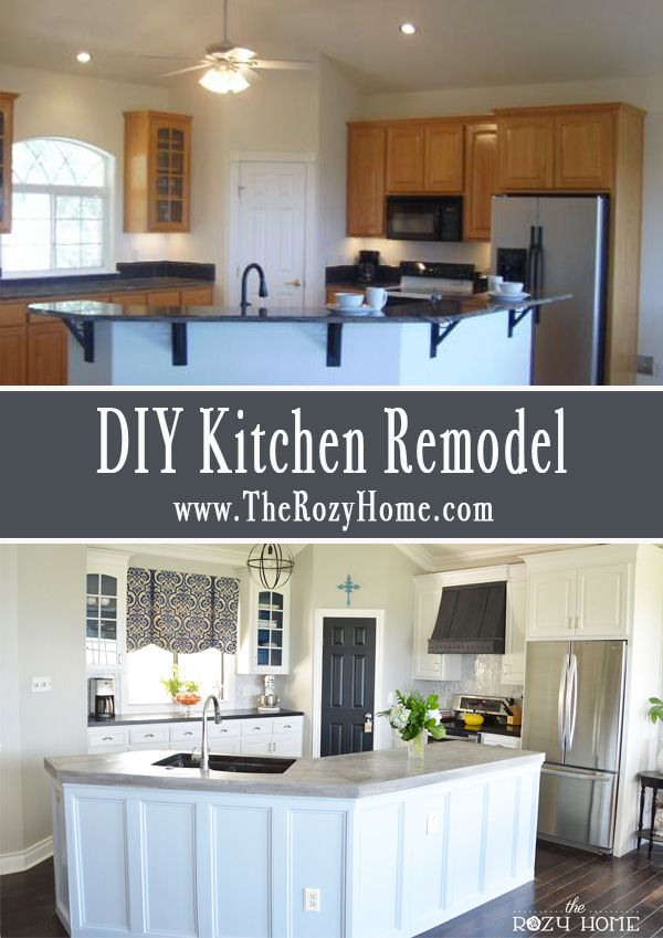 The kitchen reveal diy kitchen remodel grey wash and herringbone solutioingenieria Gallery