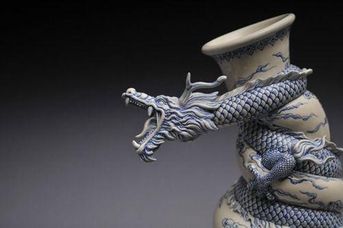 Sculpture, Art, China, Dragons, Asian Art