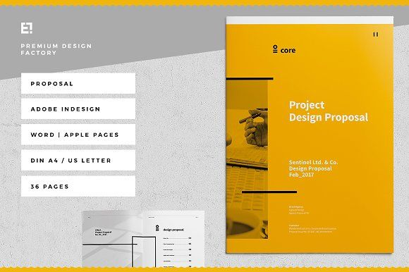Core Proposal By Egotype On Creativemarket  Brochure Design