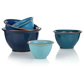 Schüssel-Set, 5-tlg., stapelbar, Keramik Vorderansicht