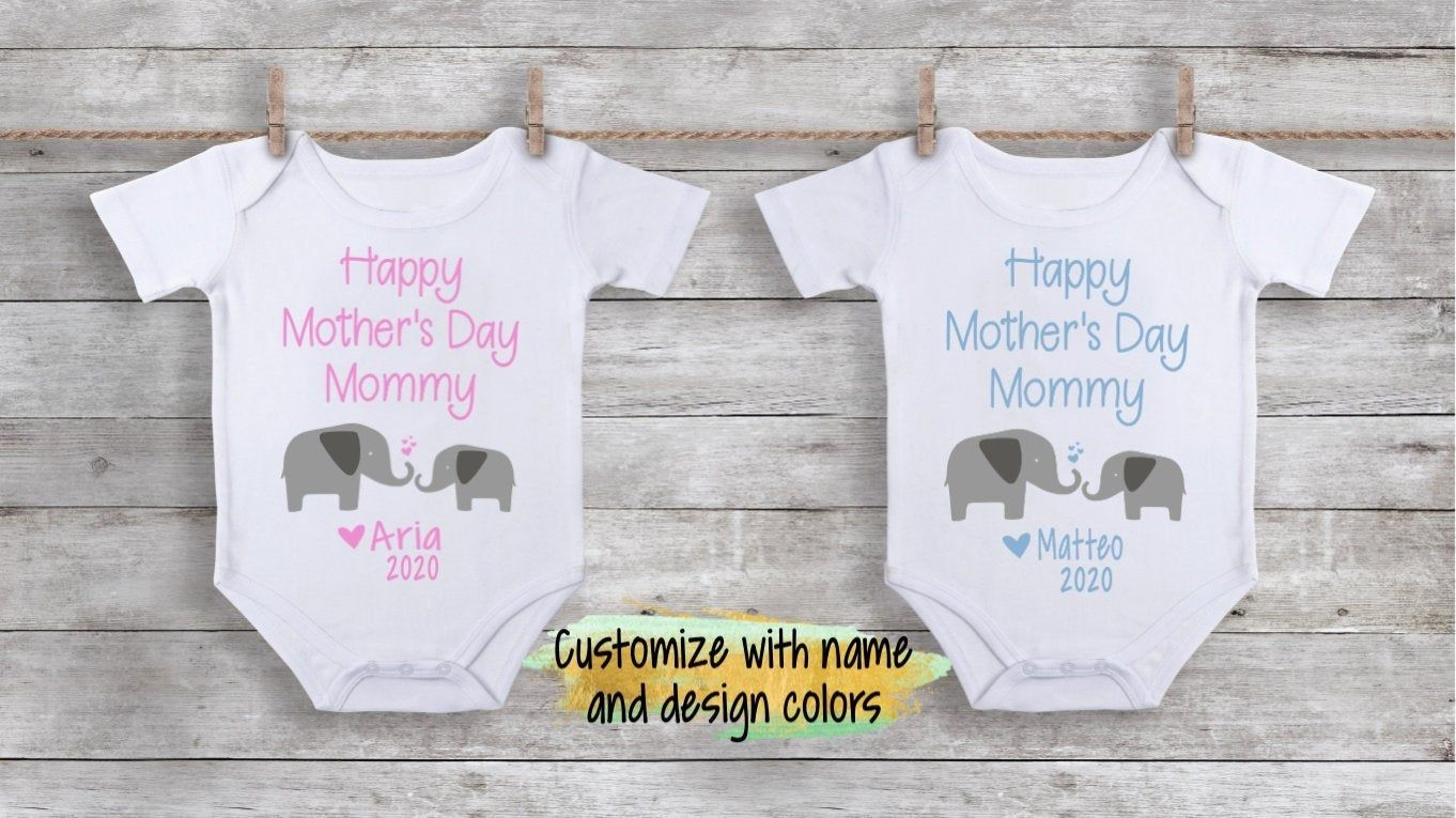 Happy 1st Mother/'s Day Embroidered Baby Bib Gift Personalised Mum First