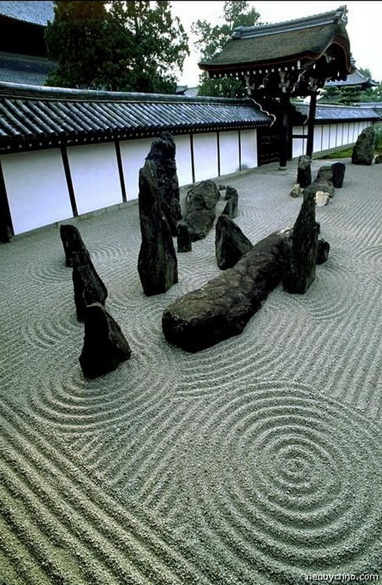 Japanese Rock Garden - sad kamnei6