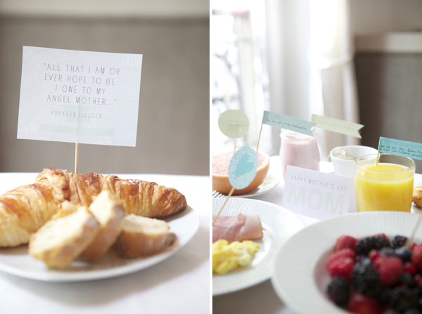 Mother's Day Breakfast idea and free printables via @Christie Weir Giacomozzi #BabyCenterBlog