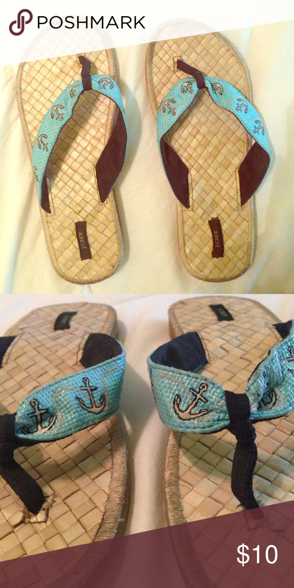 4c89b6cc919a Jcrew flip flops Anchor flip flops from J.Crew. Size 8. Previously loved.  J. Crew Shoes Sandals