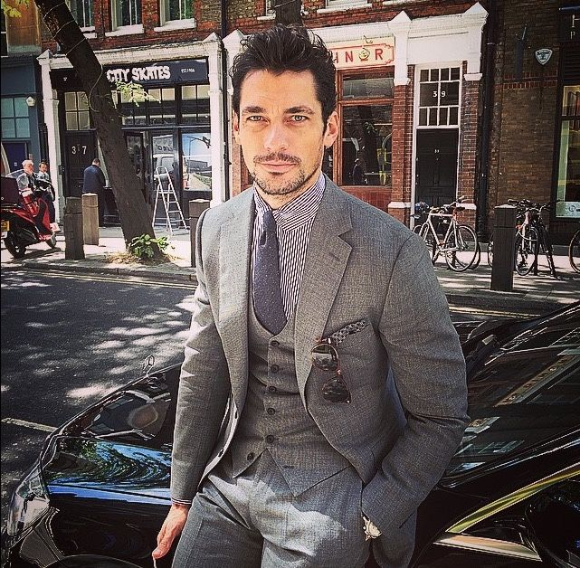 LC:M Day 4 | David Gandy wears a @Thom_Sweeney suit, Eton shirt, @DPrestonShoes & @BaileyNelson_UK sunnies Sources: @nickmaroudias; @daniellindstrom; @richiejft; @caroladearmas; @heroinefei_w; Burberry and Getty