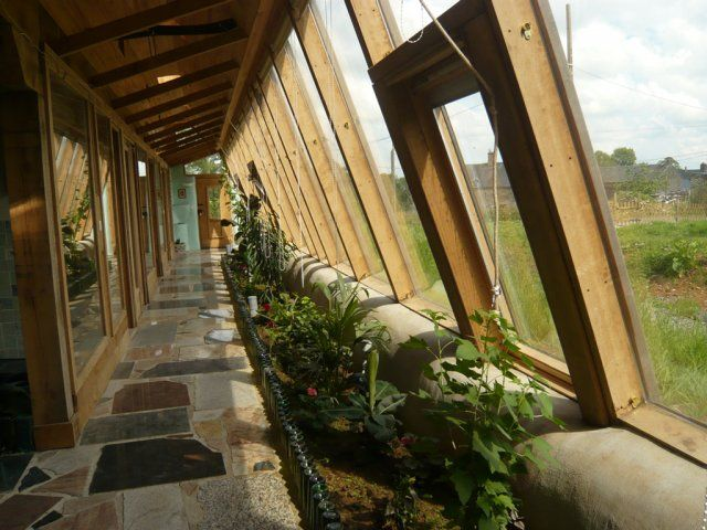 I want a lush indoor garden in an earthship type eco for Eco indoor garden house