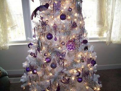 White and Purple Christmas Tree