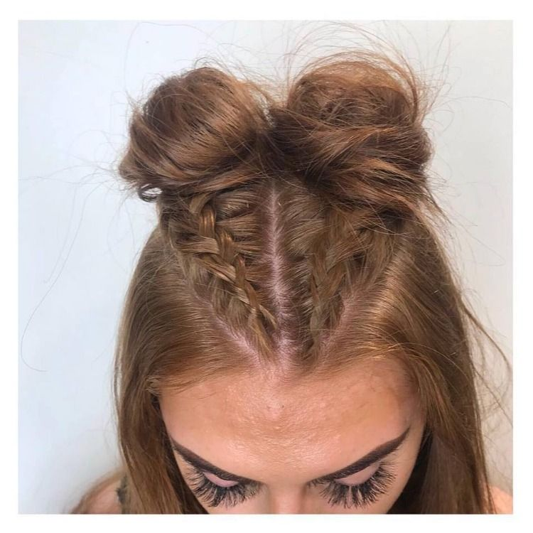 A Bit Of Fun With Braids And Buns Two Braid Hairstyles Braided Hairstyles Dutch Braid Hairstyles