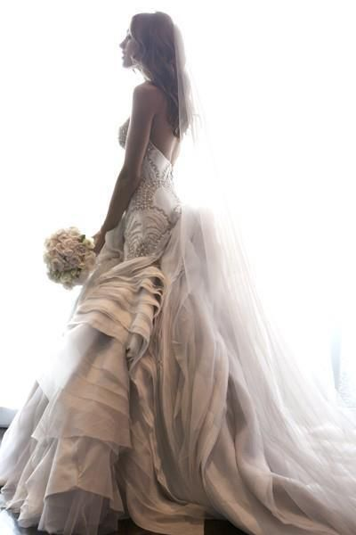 I love the details on the wedding gown.