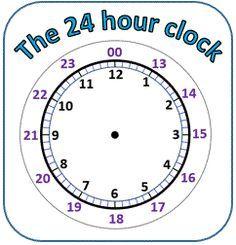 24 Hour Clock Conversion Worksheets 24 Hour Clock 24 Hour Clock